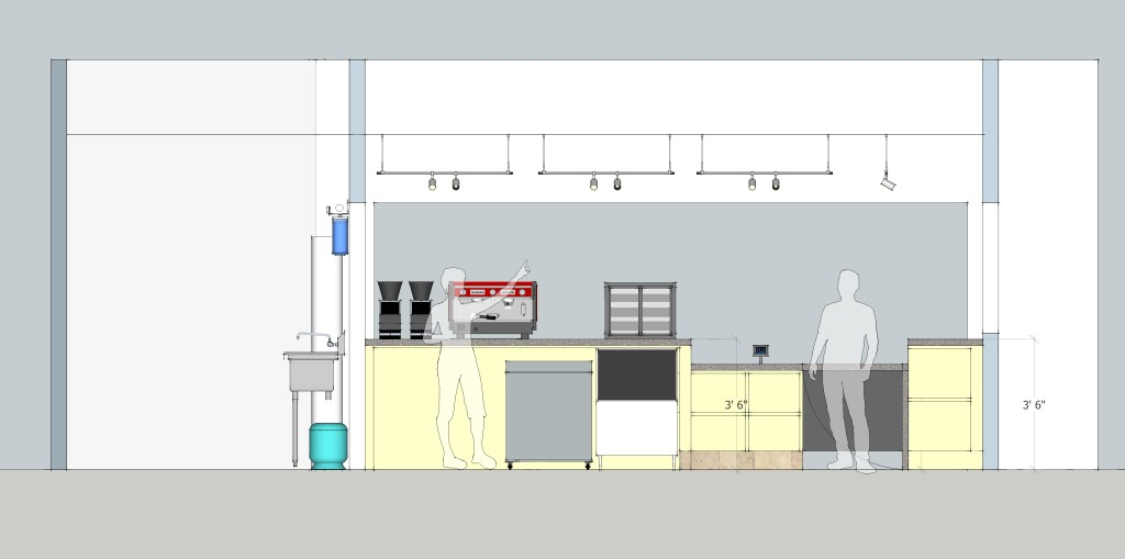 coffee bar final SD - REV1 - Interior Elevation 1