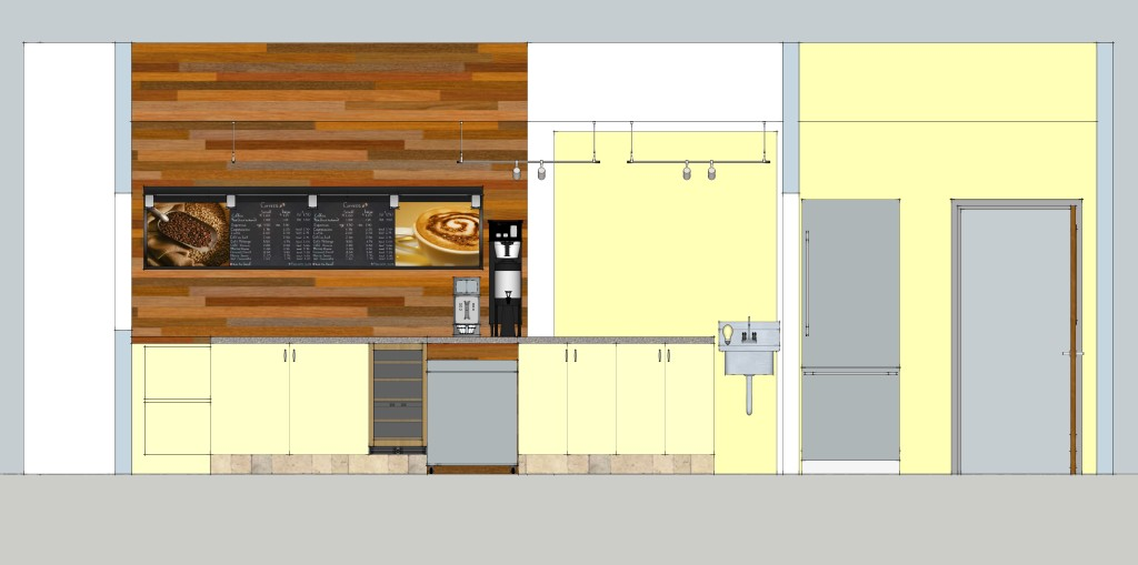 coffee bar final SD - REV1 - Interior Elevation 2